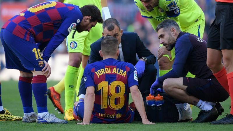बार्सिलोनाको रक्षापंक्तिलाई झट्का : अल्बाले ठूला खेल गुमाउने