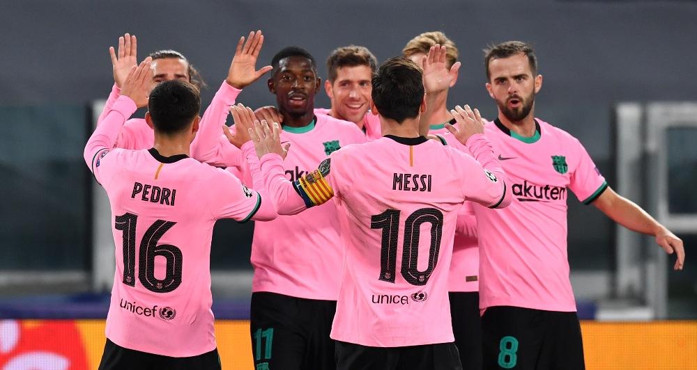 बार्सिलोनाले १० खेलाडीमा सीमित युभेन्टसलाई उसकै घरमा हरायो