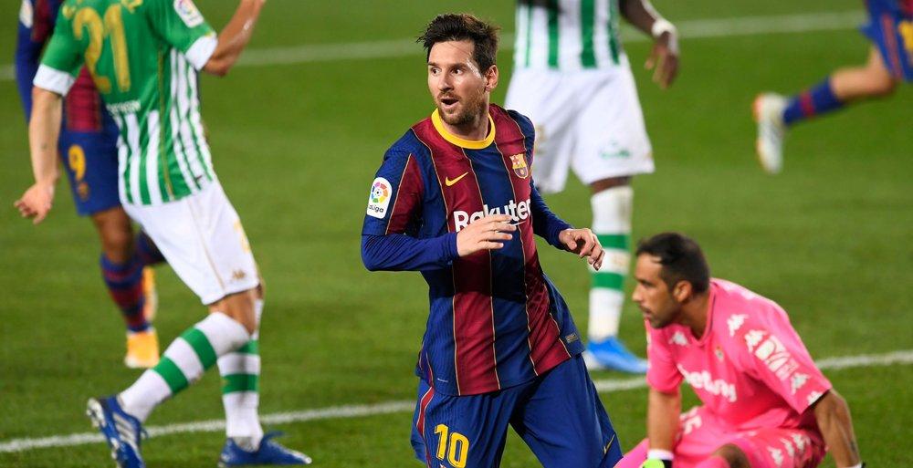 १० खेलाडीमा सीमित बेटिसमाथि बार्सिलोनाको शानदार जित : मेस्सीको २ गोल !