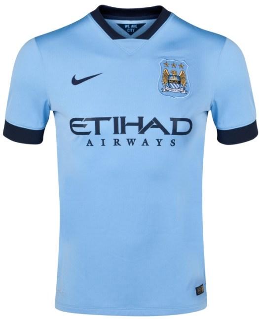 New Man City Kit 14/15- Nike Manchester City Home Jersey ...