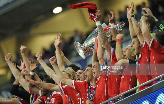 Bayern Munich conquered the treble in 2013