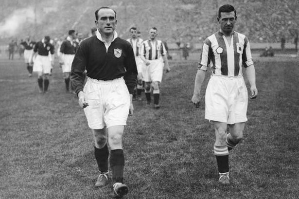 Herbert Chapman brought in the tradition of both teams walking out together