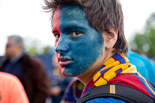 Image result for barcelona fans facepaint