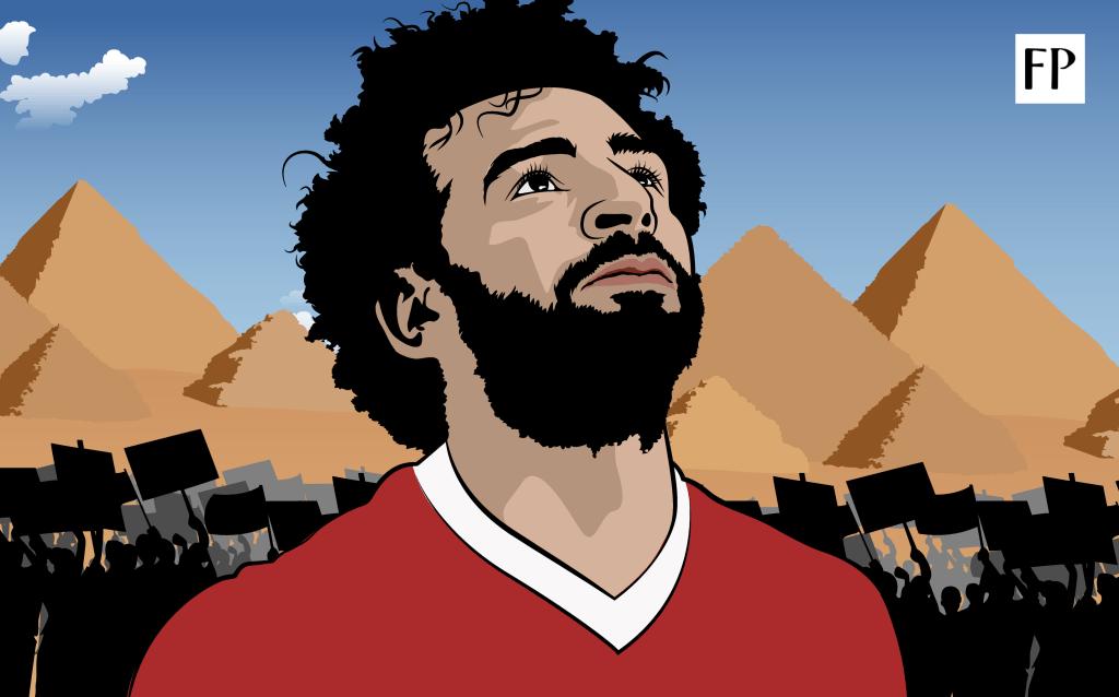 Mohamed Salah Football Paradise Illustration