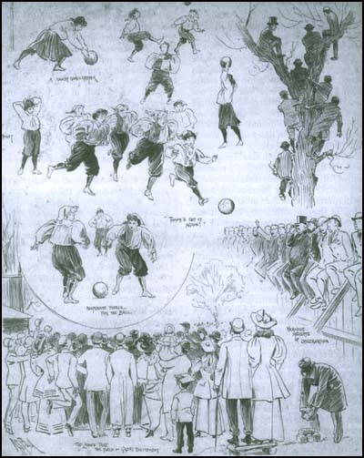 History of Women's Football - Women's football in 1895 (Alexander Boyd, 1854-1930)