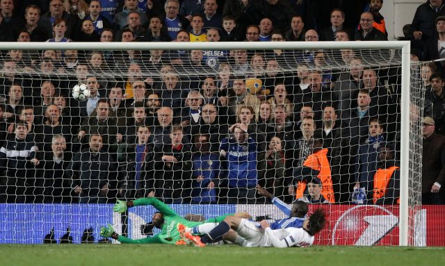 Chelsea's Demba Ba scores his side's second goal