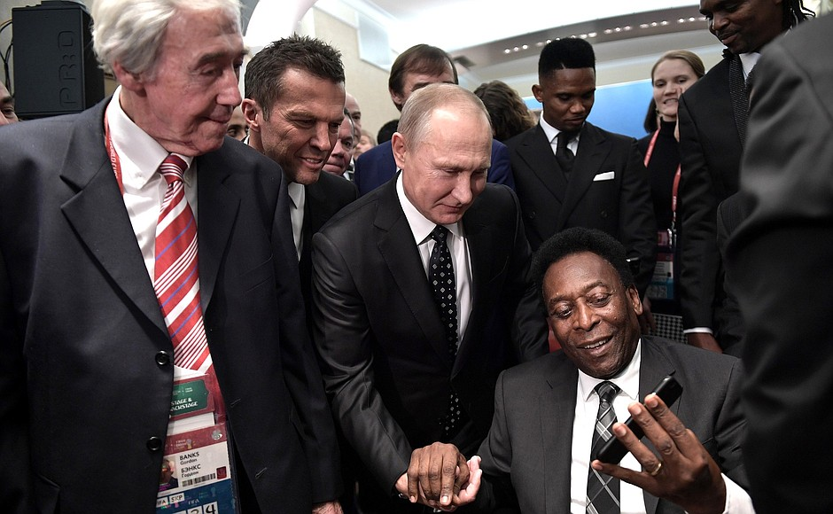 Pele with Vladimir Putin: An image you'll see a lot more of during this summer's World Cup in Russia.