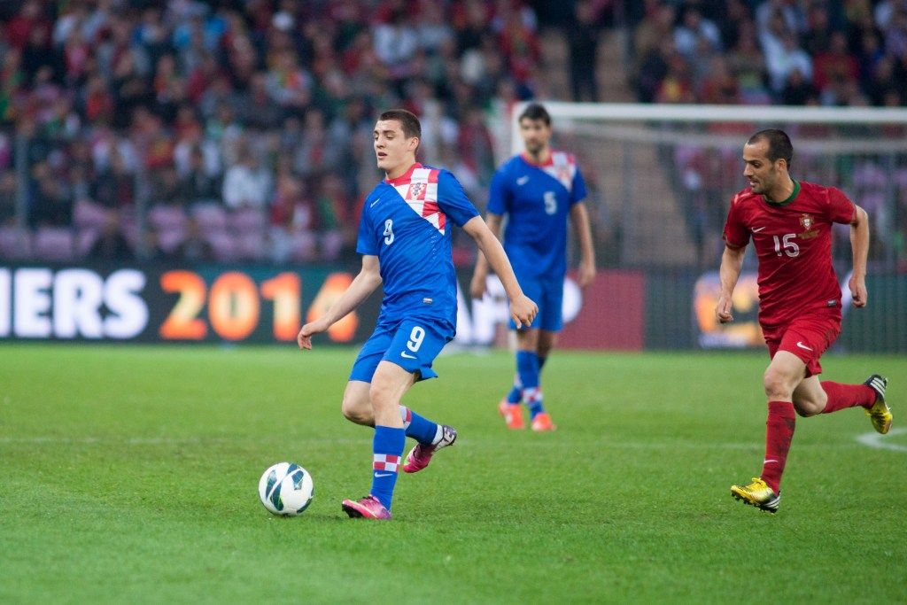 Mateo Kovacic is one of the many bright young midfielders who have turned Croatia into a formidable force. (Croatia vs. Portugal, 10th June 2013)
