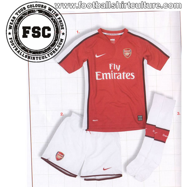 Arsenal Home Kit 08/09