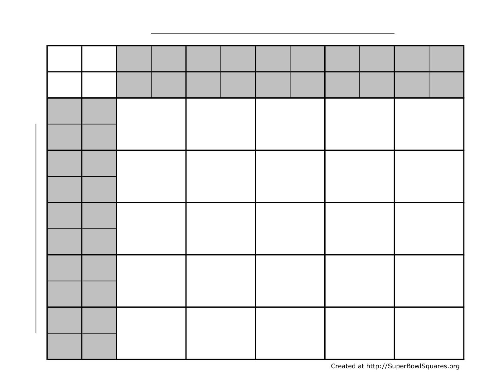 Printable Football Squares Sheets