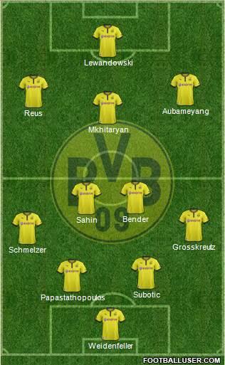 Borussia Dortmund 4-2-3-1 football formation