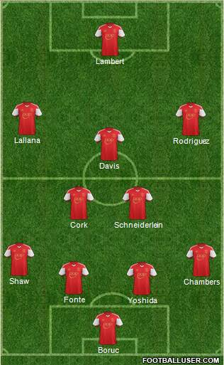 Southampton 4-2-3-1 football formation