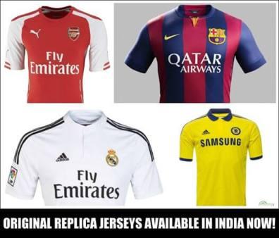 Buy 2014-15 original Football Jerseys in India