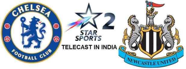 Chelsea vs Newcastle United telecast in India