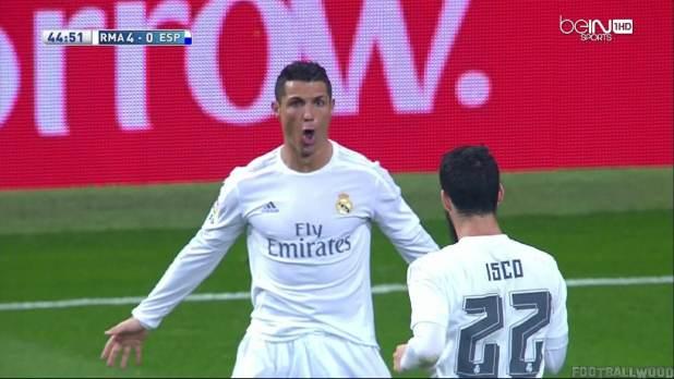 Cristiano Ronaldo eight goals vs Espanyol