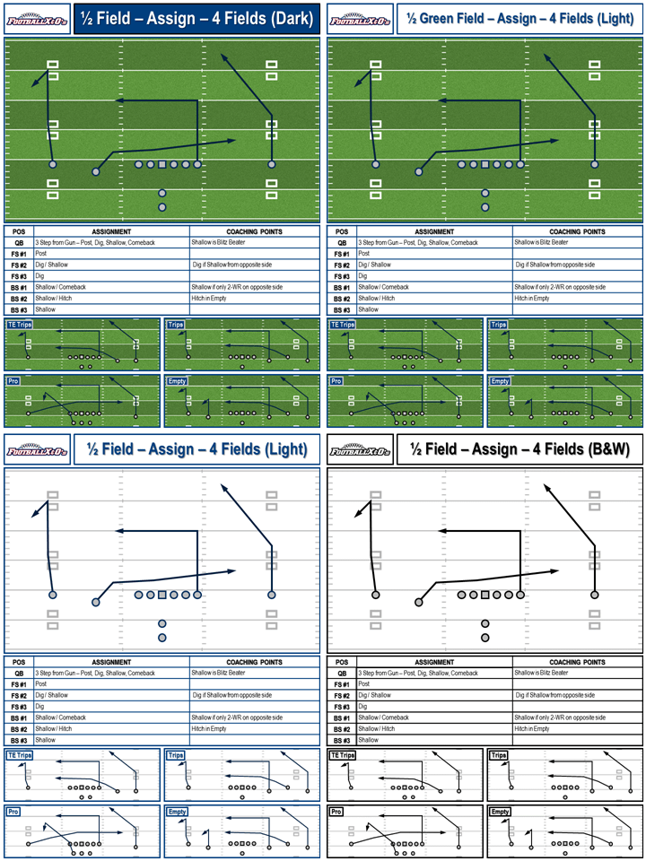 Playbook Templates College Hashes Letter Size Footballxos Com