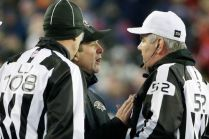 Line judge Gary Arthur and Bill Vinovich (Baltimore Ravens photo)