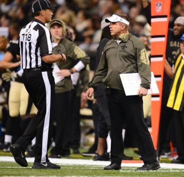 Field judge David Meslow (New Orleans Saints)