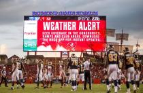 Weather delays the Rams and Buccaneers (Tampa Bay Buccaneers)