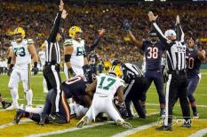 Parry and crew signal a touchdown (Chicago Bears)