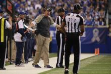 John Jenkins (foreground) and Byron Boston (Indianapolis Colts)