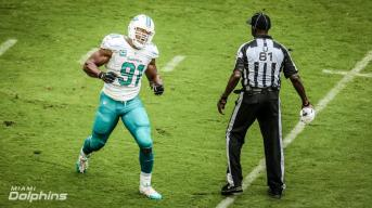 Roy Ellison is soaked to the gills (Miami Dolphins)