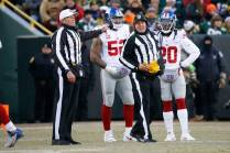 Ed Hochuli and Laird Hayes (Green Bay Packers)