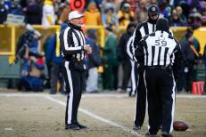 Ed Hochuli, Clay Martin and Rusty Baynes (Green Bay Packers)
