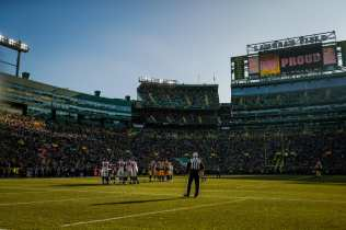 Walt Coleman at Lambeau Field (Green Bay Packers)