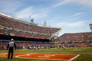 John Hussey at Soldier Field (Green Bay Packers)
