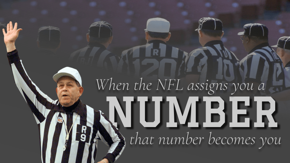 NFL100: In 1979, the NFL renumbered its officials. After 3 years, they scrapped the failed plan
