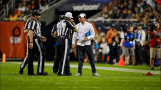 Tony Corrente's crew deals with a replay challenge (Green Bay Packers)