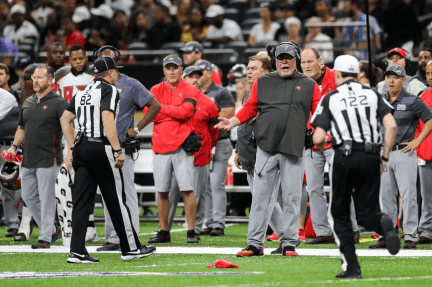 Jimmy Russell and Brad Allen respond to a Bruce Arians challenge (Tampa Bay Buccaneers)