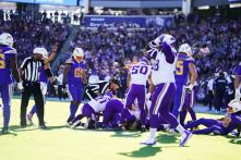 Ron Torbert's crew sorts out a fumble (Minnesota Vikings).
