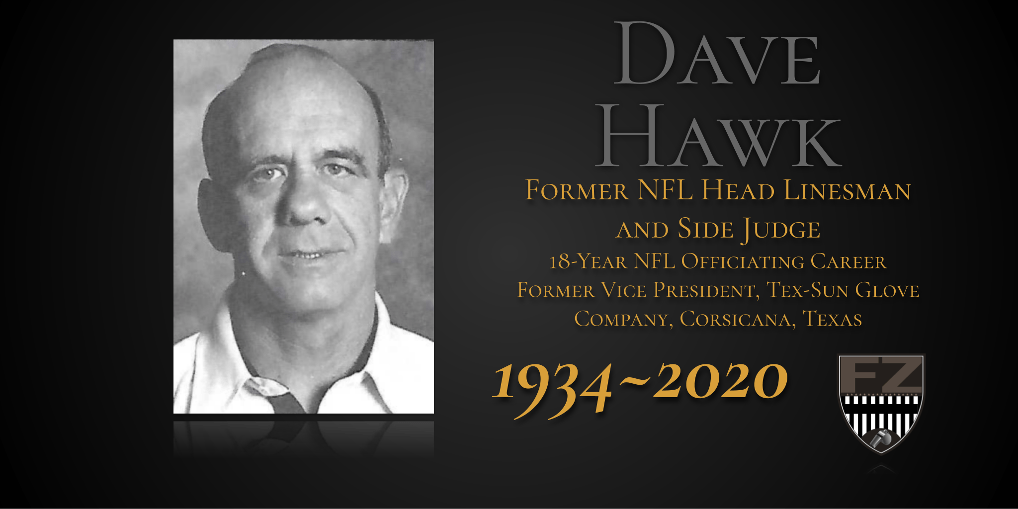 Former NFL official David Hawk has passed away