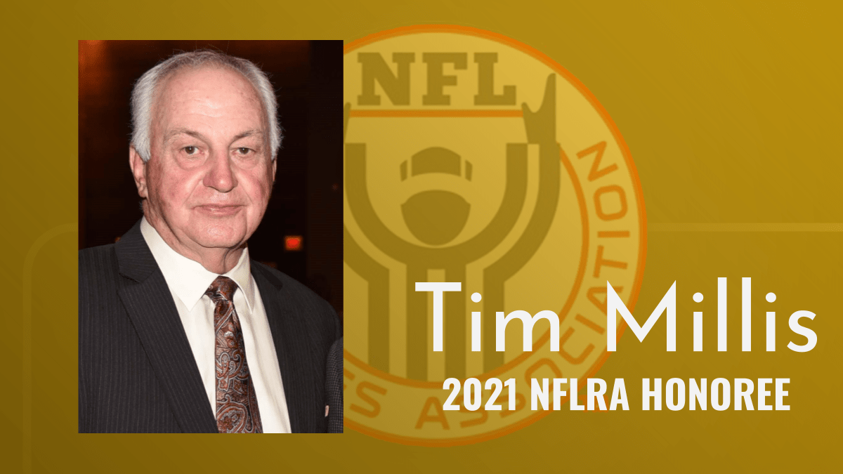 Tim Millis to receive NFLRA Annual Honoree Award
