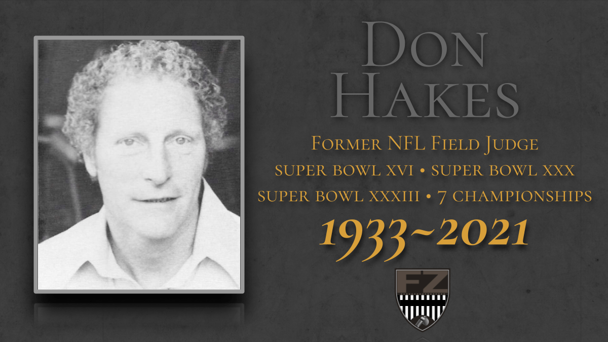 3-time Super Bowl official Don Hakes passes away