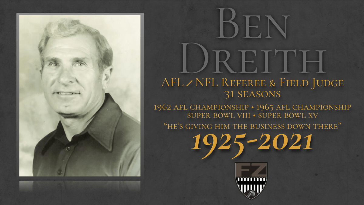Ben Dreith, the longtime NFL referee widely known to common fans, dies at 96
