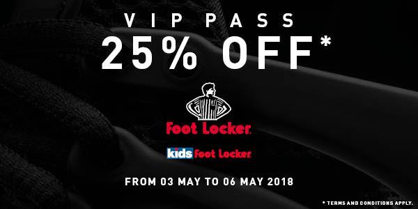 282aecf28445f EXPIRED - ASSIST - Foot Locker VIP Pass 25% Off