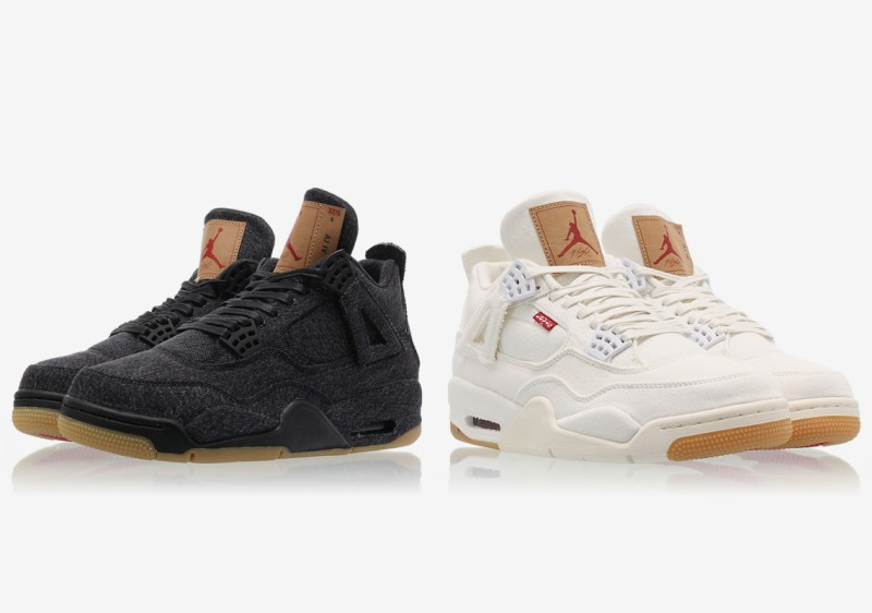 Levis x Air Jordan 4 Retro NRG White and Black Denim