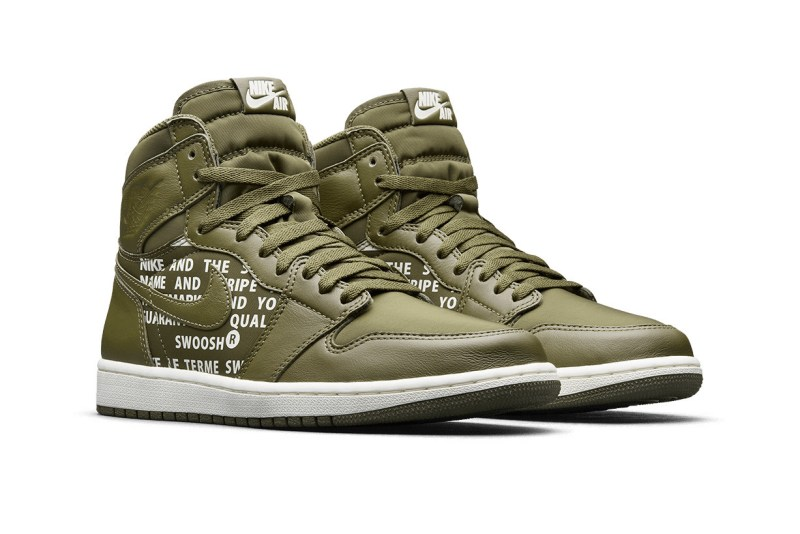 Air Jordan 1 High OG Nike Air Pack Olive Canvas