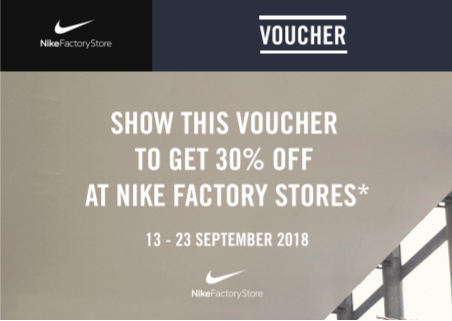 sale retailer 7c18c 12124 ASSIST - Download Your 30% Off Nike Factory Outlet Stores ...
