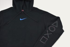 Nike Playstation Hoodie Black Close Up Front - Where To buy