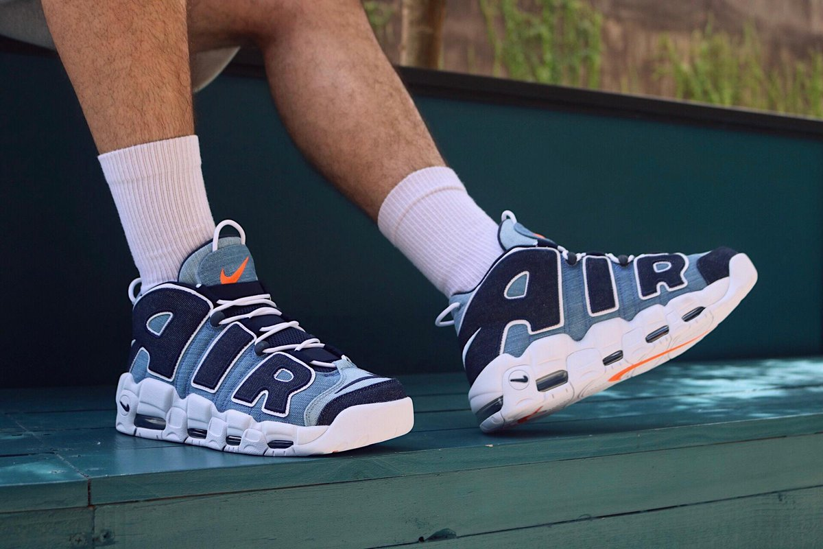 air more uptempo on foot