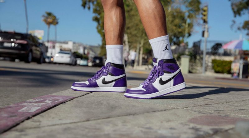 Where to buy Air Jordan 1 High Court Purple 555088-500 UK Feature