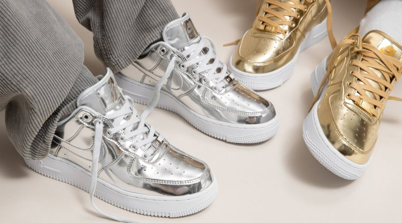 Nike Air Force 1 SP Liquid Metal Pack CQ6566-001 CQ6566-700 Sale