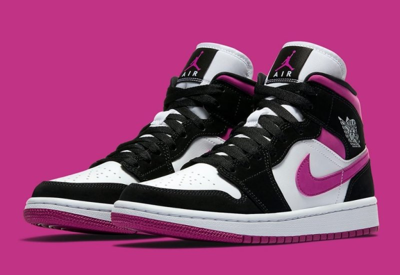 Air Jordan 1 Mid Quot Magenta Quot Now Available Foot Fire
