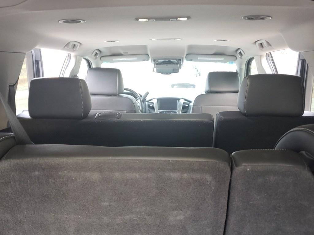Black SUV inside view