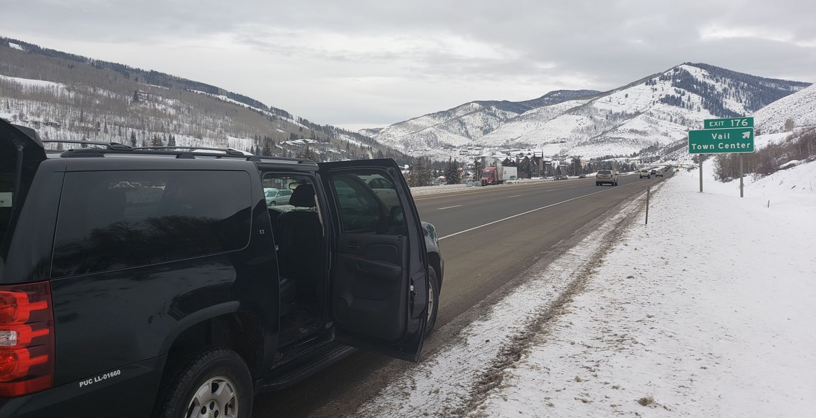 Vail private transportation, private SUV car service