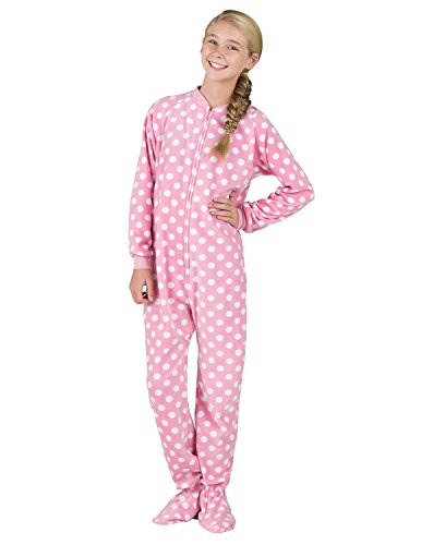Footed Pajamas – Pretty In Polka Kids Fleece | Footie Pajamas Shop